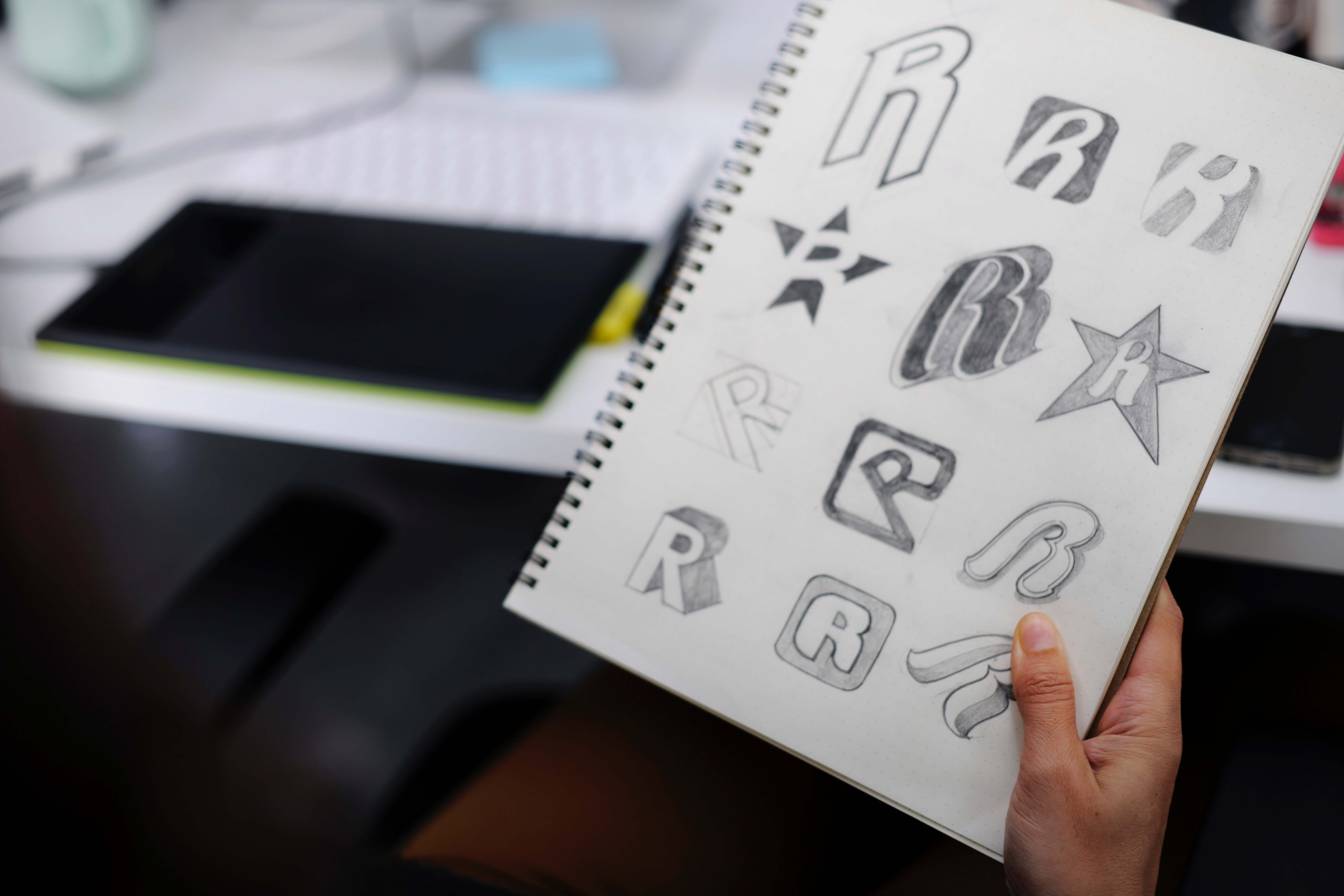 Sketched letters
