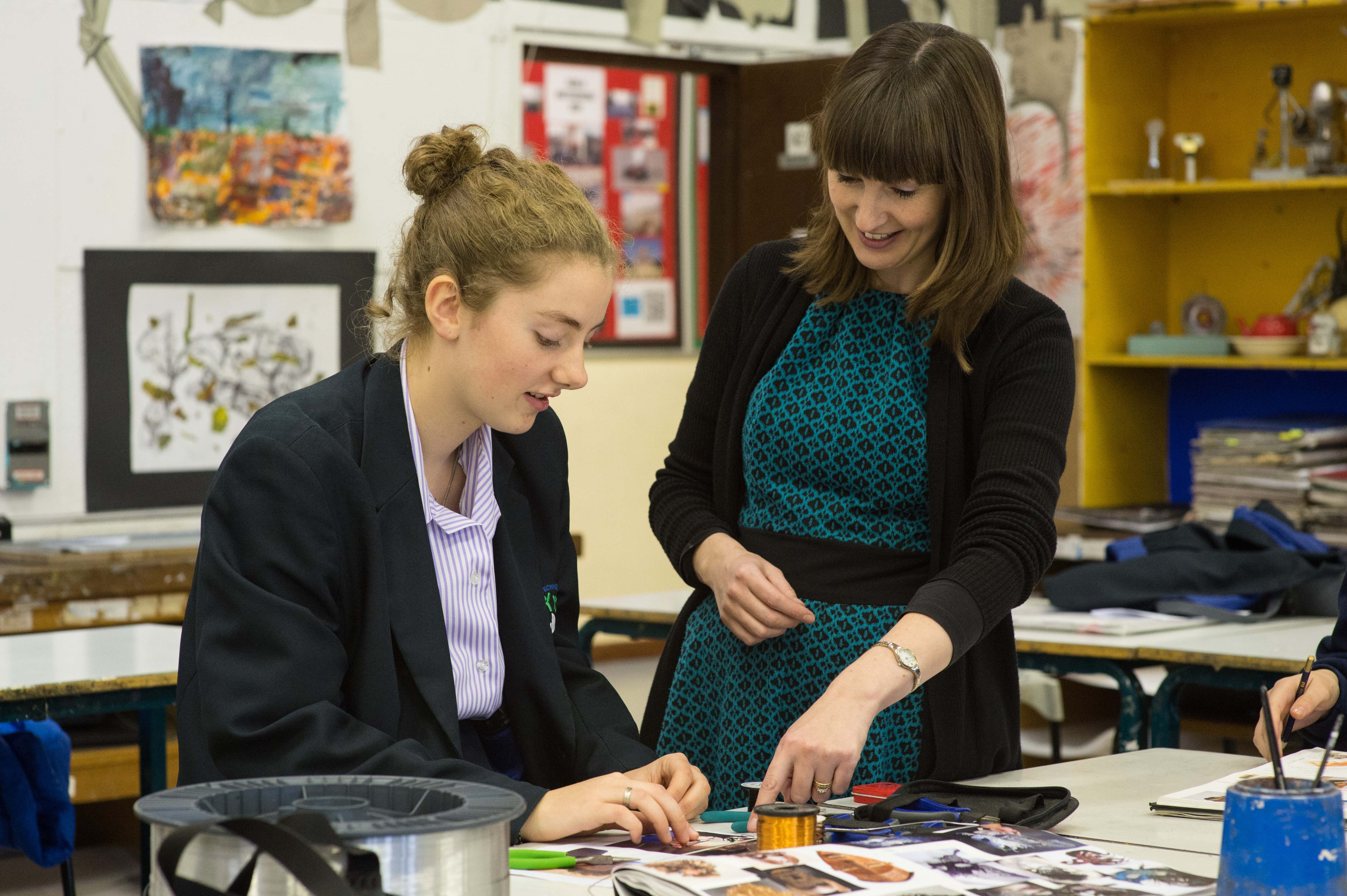 Teacher and student art